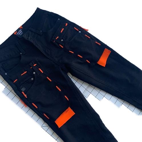 Extendo Jeans (Black Orange Detail)