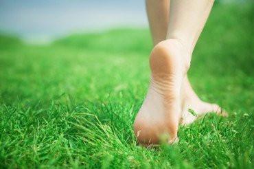 MySouls walking on warm grass