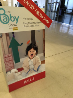 Welcome to The Baby Show sign