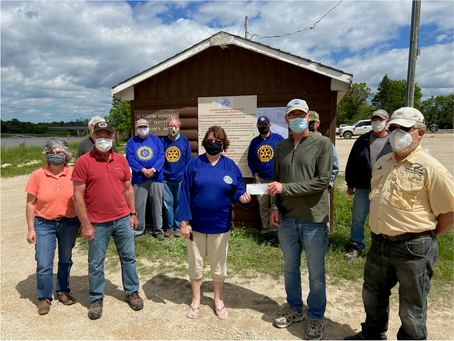 Rotary Club of The Pas Supports Local Zebra Mussel Prevention Efforts