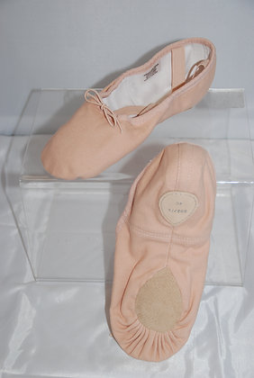Bloch Split Sole Pink Canvas Pump (Size 6 - 8.5)