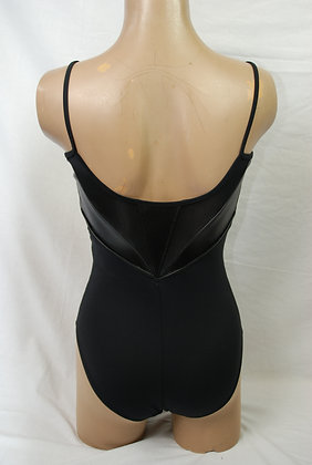L6617 Bloch Faux Leather V Panelled Camisole