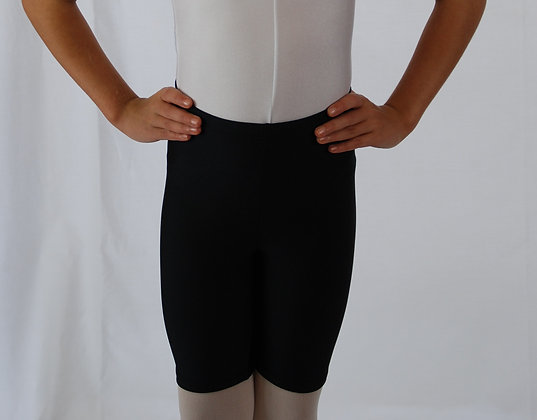 Tappers and Pointers Black Cotton Cycle shorts