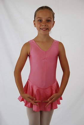 Junior Skirted Sleeveless Ruched Leotard