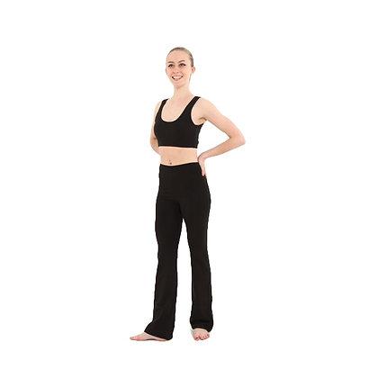 Black Cotton Lycra Jazz Pants