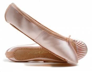 Katz Satin Full Suede Sole Ballet Shoes