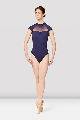M5091LM Ladies Valient Mirella Vienna Cap Sleeve Mesh Back Leotard
