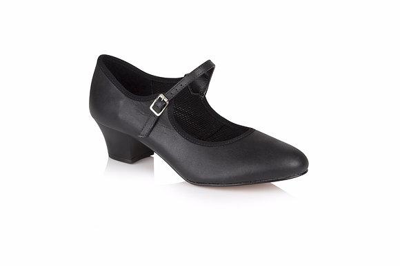 Ladies Freed Buckle Bar Shoe with Cuban heel