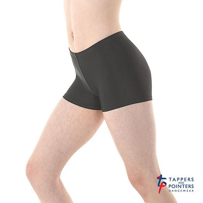 Black Nylon Lycra Hipster Micro Shorts by Tappers & Pointers