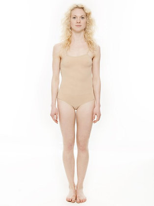Girls, Ladies Nude Seamless Dance Body Stocking Camisole Undergarment.
