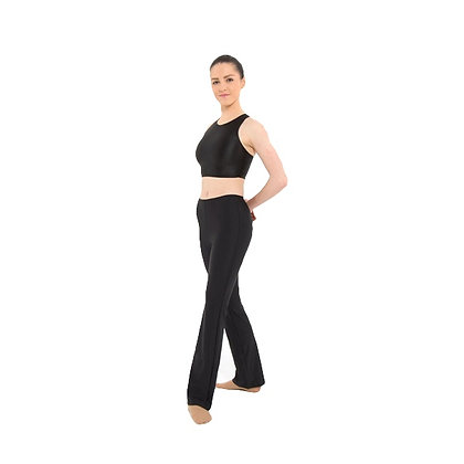 Black Nylon Lycra Jazz Pants