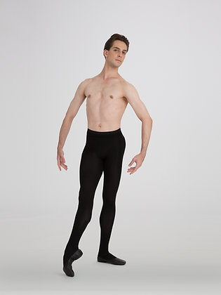 Capezio Men's Knit Footed Tights with Back Seam MT11