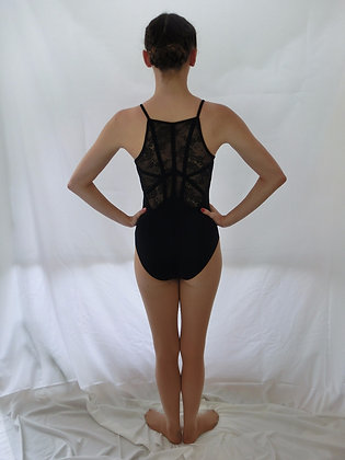 L7737 Lace Ribbon and Back Camisole Leotard