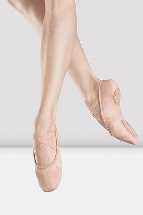 Girls Bloch Zenith Pink Stretch Canvas Split Sole SO282