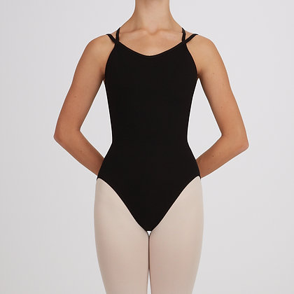 CC121 Capezio Lattice Back Camisole Leotard