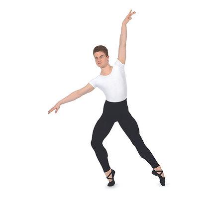 Men's Black Cotton/ Lycra  Footless Tights RV2381