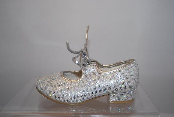 Silver Hologram Childs Tap Shoe