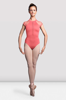 Ladies Empress Cap Sleeve Open Back Leotard  L3112