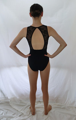 L7705 Lace and Ribbon Front Tank Leotard