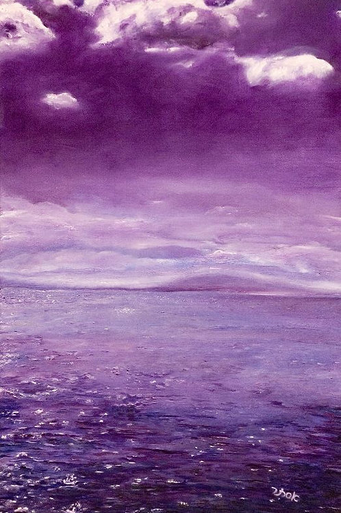 Sea Water Painting - Water Sky