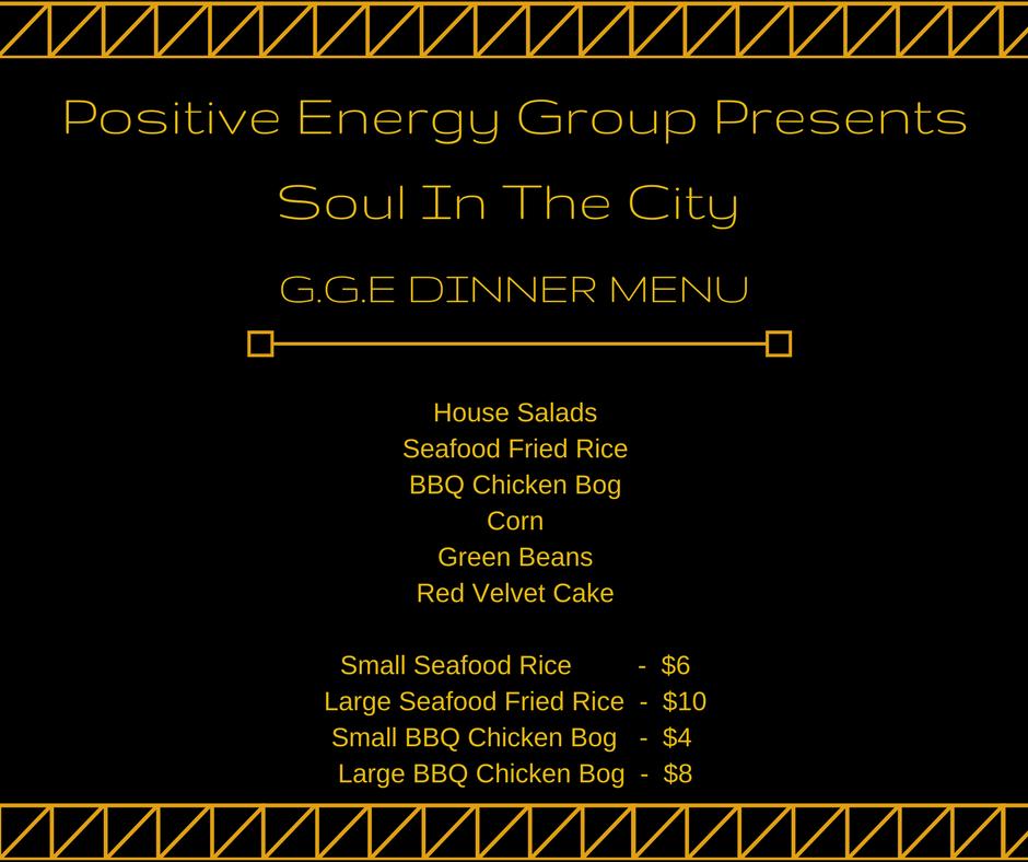 G.G.E Dinner Menu