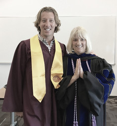 BSN Graduation with Professor Carol Stevens Ph.D. RN.
