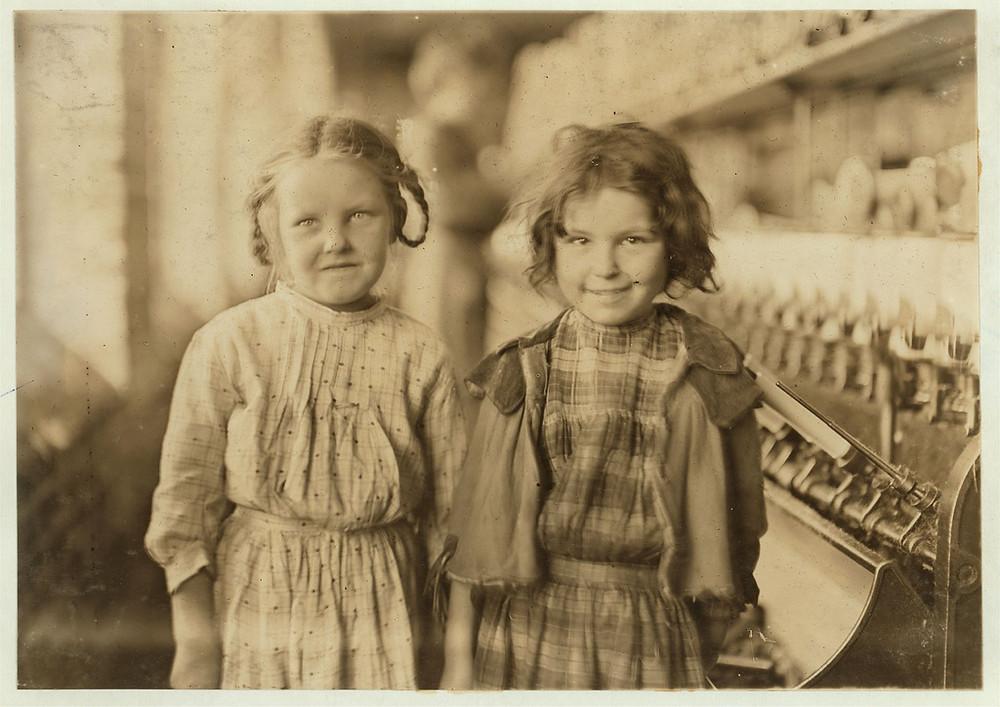 Two (girl) helpers (1909) Tifton Cotton Mill, Tifton, GA