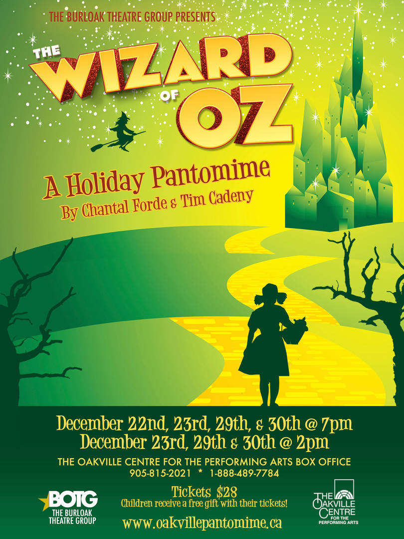 Wizard of Oz Oakville Pantomime