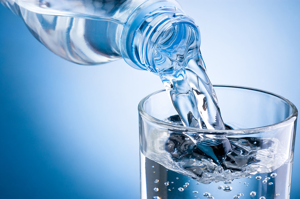 Hydrate with water to keep your skin supple.