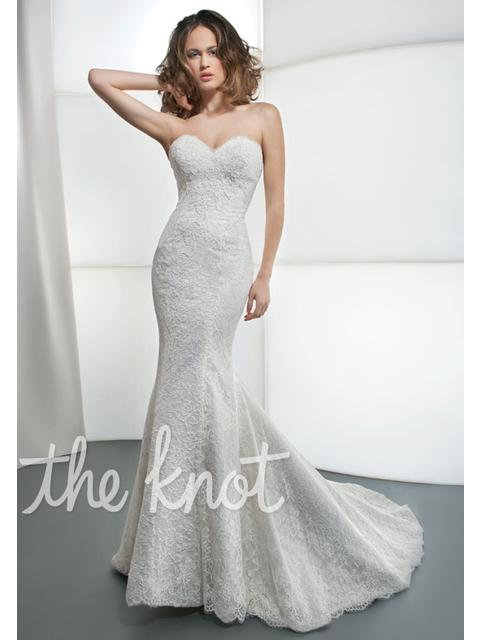 Demetrios White Lace Gown