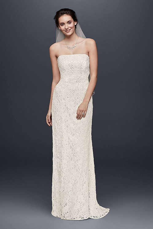Simple White Lace Gown