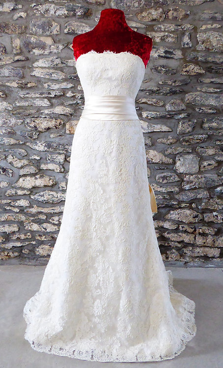Silk Lace Overlay Gown