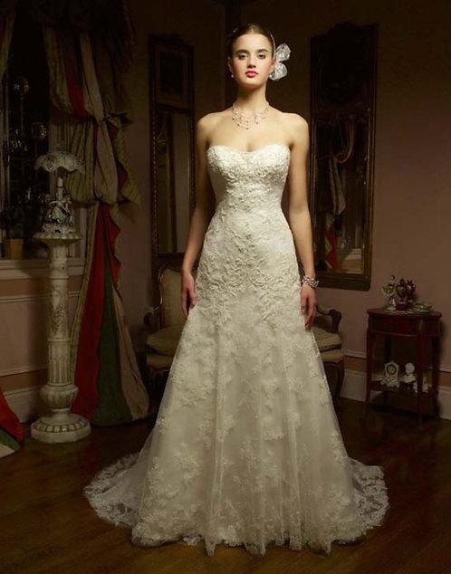 Casablanca A-Line Gown