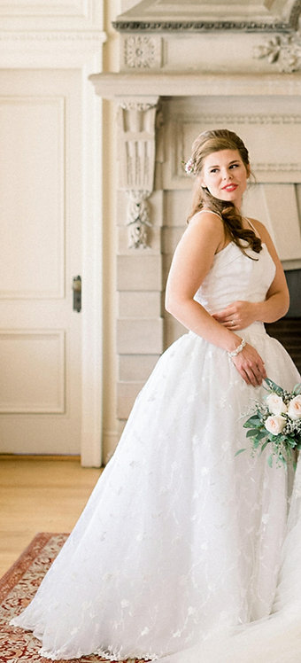 Floral Embroidered Ball Gown