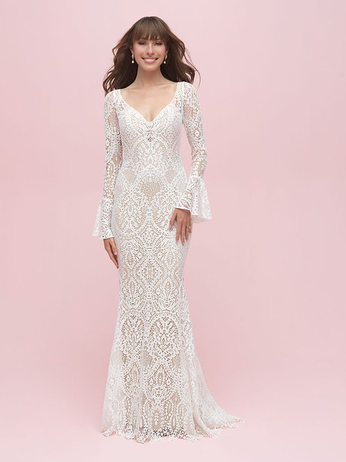 Allure Bell Sleeved Gown