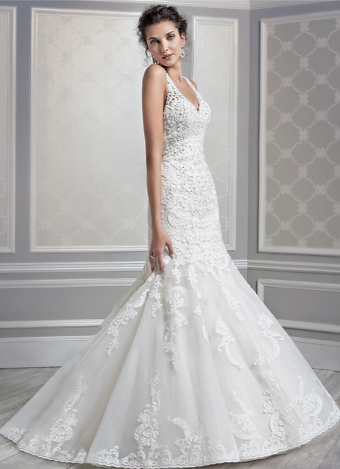 Kenneth Winston Lace Gown