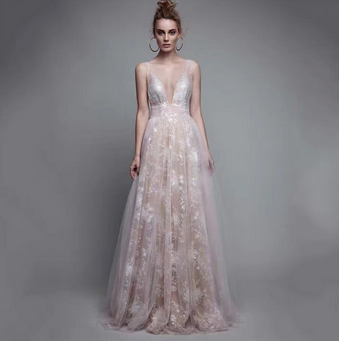 Flowy Lace Gown