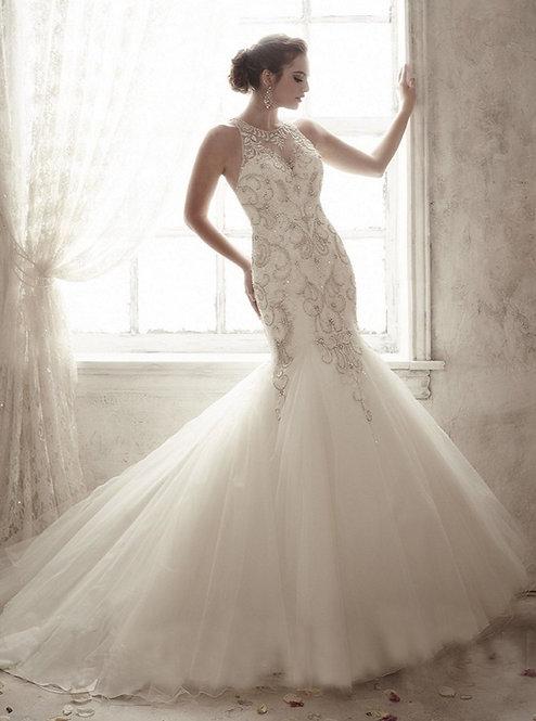 Cristina Wu Beaded Gown