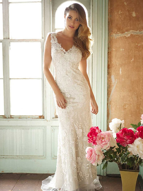 Allure Lace Overlay Gown