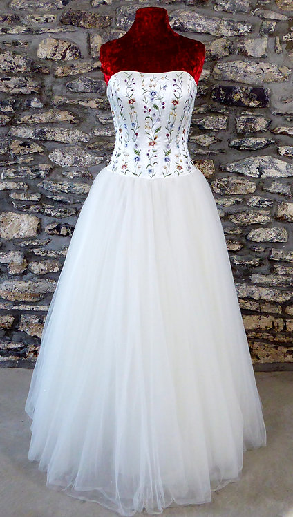 Embroidered Bodice Ball Gown