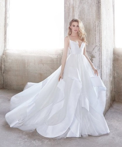 Hayley Paige Ruffled Gown