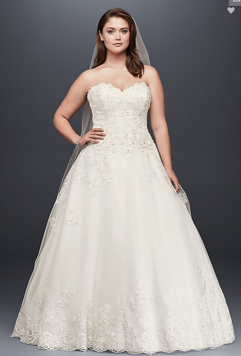 Jewel Lace Ball Gown