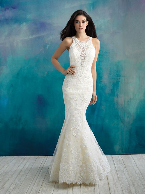 Allure Beaded Lace Gown