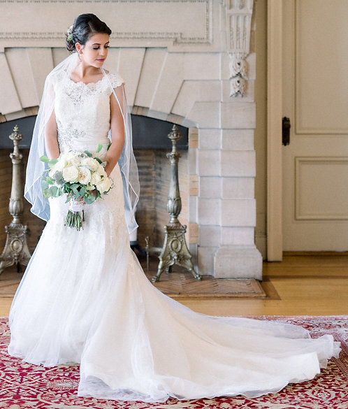 Stefan Jolie Lace Gown