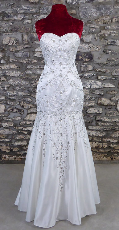 Beaded Fit & Flare Gown