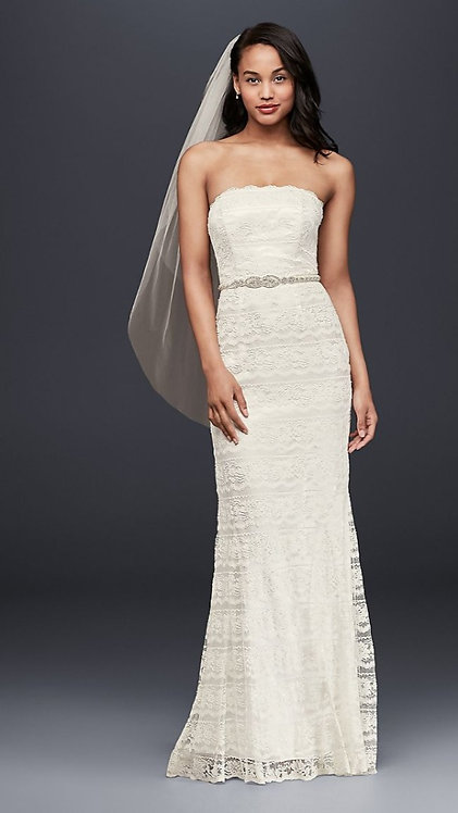 Galina Simple Lace Gown