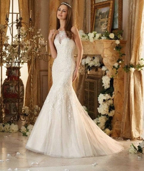 Morilee Embroidered Gown