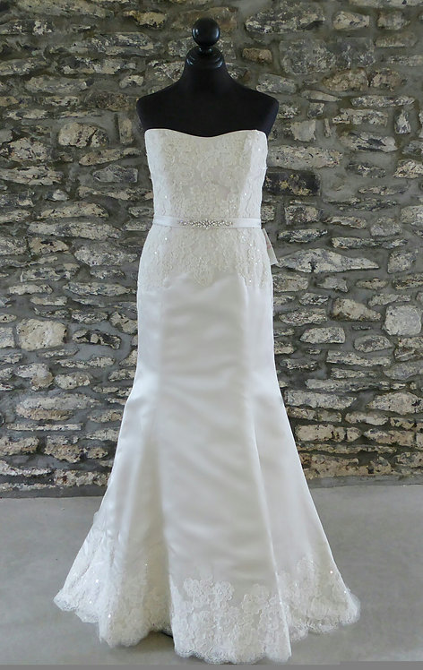Lace Trimmed Gown