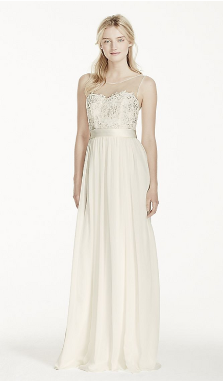 Illusion Tank Chiffon Gown