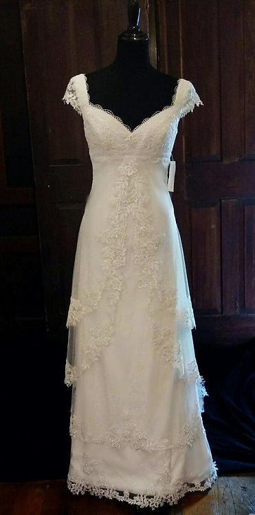 Plus Size Lace Accent Gown